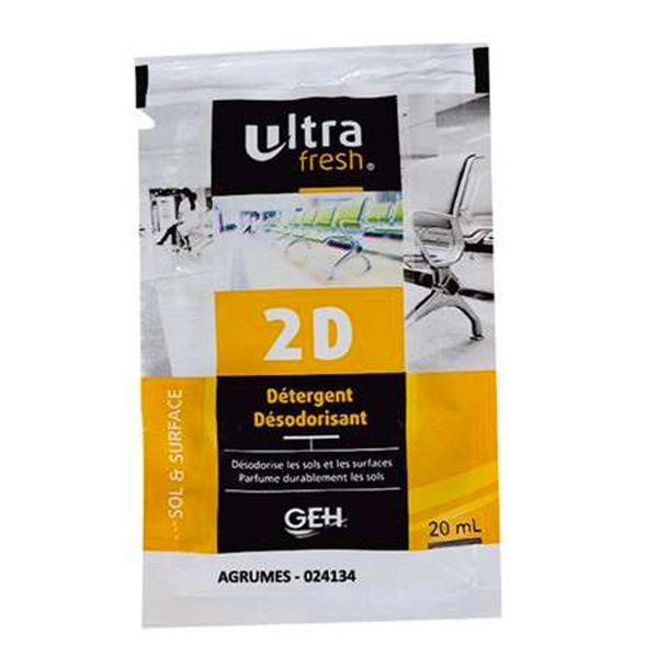 ULTRAFRESH 2 D Détergent Désodorisant Senteurs Agrumes carton de 250 dosettes